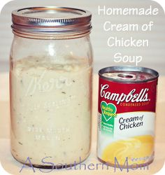 Homemade-Cream-of-Chicken-Soup-Recipe...i'm all for homemade, even if it's time consuming. it just tastes so much better!!