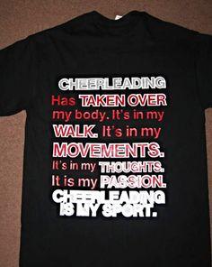 Custom cheer t-shirts.