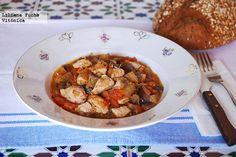 Receta de pollo en salsa de berenjena y tomate. Con fotos del paso a paso, consejos y sugerencias de degustación. Recetas saludables. Recetas de...