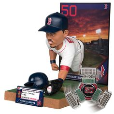 """Boston Red Sox MLB Mookie Betts 12"""" Bobble Head **Limited Edition**"""