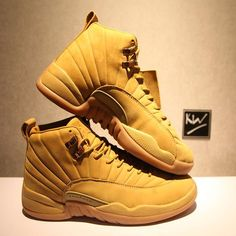 "90fc4e04564980 AUTHENTIC PSNY X AIR JORDAN 12 ""WHEAT"" all size are in stock.DM"