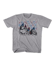 Heather Gray Mount Rushmore Party Tee - Toddler & Kids