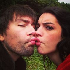 Torrance Coombs (Bash) and Adelaide Kane (Mary) on the set of Reign! What exactly is happening here! :)
