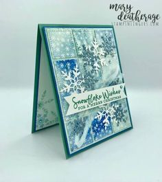 Stampin Up Christmas, Christmas Cards To Make, Handmade Christmas, Holiday Cards, Snowflake Cards, Snowflake Designs, Christmas Snowflakes, Winter Cards, Stamping Up