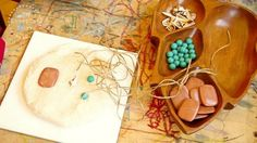Exploring Reggio - Making faces with playdough and loose materials - An Everyday Story