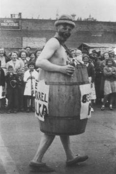 Former state legislator wears barrel :: Ellensburg Heritage