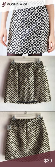 Urban Outfitters Crazy Daisy Mini Skirt BNWT retro-modern daisy jacquard skirt with funky princess-seamed contrast print paneling by Urban Outfitter's vintage inspired label Cooperative. Zipper closure on back. Gold embroidery accents, color is most accurate in last 3 photos Urban Outfitters Skirts Mini