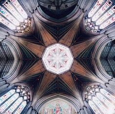 Grand: The ceiling of Ely Cathedral, Cambridgeshire, showing the octagonal lantern in the centre