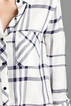 Chemise carreaux blanche et noire