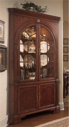 Dark Brown Corner Cabinets