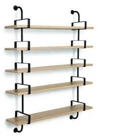 GUBI // Demon Shelf 5 shelves, width 155 in oak. Designed by Matheiu Matégot
