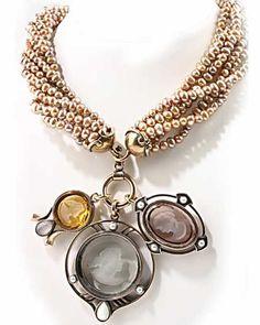 Classic Elegant Taliesin Three Intaglio Necklace Design for Women Fashion Accessories by Extasia, California
