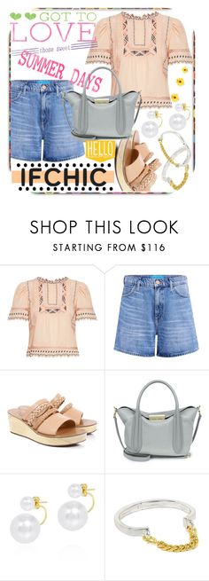 """""""Sweet Summer Days"""" by westcoastcharmed ❤ liked on Polyvore featuring Rebecca Taylor, M.i.h Jeans, Ancient Greek Sandals, ZAC Zac Posen, summersale and ifchic"""