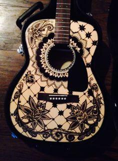 Sharpie guitar art <3