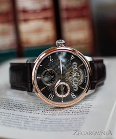 Carl von Zeyten CVZ0046RBR - zegarek Calw Automatic • Zegarownia.pl Omega Watch, Rolex Watches, Leather, Vintage, Accessories, Vintage Comics, Primitive, Ornament