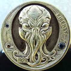 Find Hobo Nickel Coins Custom Coins, Coin Design, Octopus Art, Hobo Nickel, Coin Art, Bullion Coins, Rare Coins, Cthulhu, Gold Coins