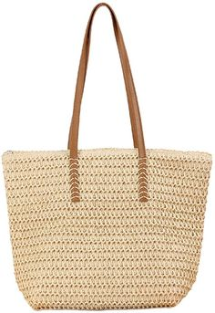 Amazon.com: Epsion Straw Beach Bags Tote Tassels Bag Hobo Summer Handwoven Shoulder Bags Purse With Pom Poms (D-Khaki): Shoes Straw Handbags, Hobo Handbags, Beach Tote Bags, Leather Tassel, Straw Bag, Pom Poms, Purses And Bags, Hand Weaving, Shoulder Bags