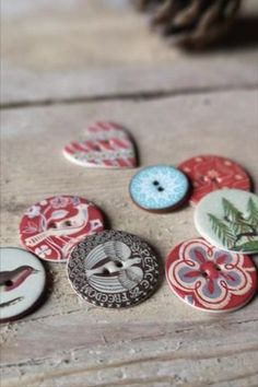 These beautiful buttons are hand made in the UK and will add a unique touch to your festive craft projects. #BeyondMeasure #button #ceramic #festive #christmas #dove #robin #heart #round Festive Crafts, Glazed Ceramic, Robin, Craft Projects, Buttons, Touch, Ceramics, Heart, Unique