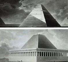Étienne-Louis Boullée is the master of monumental cenotaphs. His most emblematic project is his cenotaph designed for Isaac Newton.