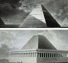 Étienne-Louis Boullée, Cénotaphs in pyramidal shape