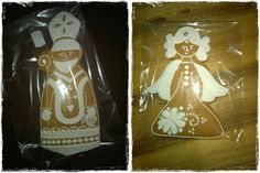 honey gingerbread - St. Nicholas and the angel
