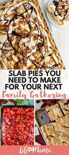 Slab Pies are easier and much larger versions of your favorite pies that feed 10 people with minimal work. Here are just a handful of slab pies that I think youll know and love. Copycat Recipes, Pie Recipes, Dessert Recipes, Dessert Ideas, Jello Desserts, Strawberry Desserts, Fruit Recipes, Easy Desserts, Baking Recipes
