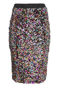 Falda de lentejuelas | H&M