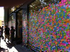 Messages post-it noted to Apple store windows when Steve Jobs passed away. Apple Tv, Apple Watch, Apple Brand, Ipad, Store Windows, Passed Away, Steve Jobs, Iphone, Notes