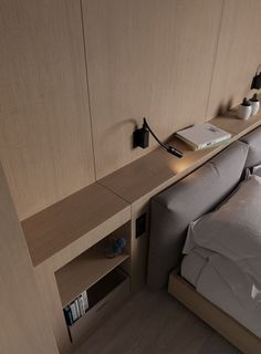 Krasnopolskaya on Behance Hotel Room Design, Bedroom Bed Design, Modern Bedroom Design, Small Room Bedroom, Home Bedroom, Home Interior Design, Interior Architecture, Bedroom Decor, Bedrooms