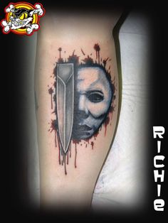 Check out this killer tattoo done by Richie! We're keeping the Halloween hype going!
