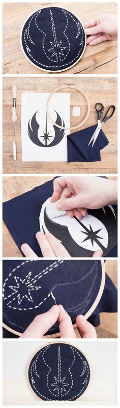 Kostenlose Stickanleitung: Wie Du ein Star Wars Jedi-Orden Stickbild stickst / free star wars diy: stich a jedi medal, embroidery via DaWanda.com