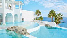Mykonos Blu resort in Psarou Beach - Luxury hotel in Mykonos island