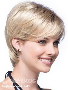 Sexy Pixie Cut Hairstyle Synthetic Wigs Short Hair Straight Wigs with Bangs for Americans Europeans Women Perruque Natural Short Choppy Hair, Short Straight Hair, Short Hair With Layers, Short Hair Cuts For Women, Long Hair Cuts, Feathered Hairstyles, Wig Hairstyles, Short Hairstyles For Women, Straight Hairstyles