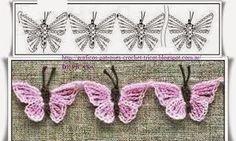 SANDRA PONTOS DE CROCHÊ E TRICÔ...........: Borboleta de Crochet