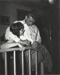 Natalie Wood and James Dean on the set of Rebel Without a Cause