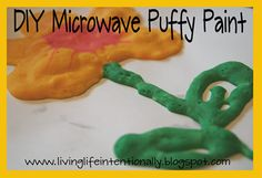 diy microwave puffy paint.