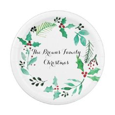 Watercolor Christmas Plates - christmas idea gift idea diy unique special merry xmas family holidays