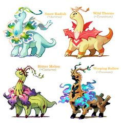 Pokemon variations, Meganium