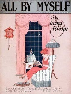 1921 Sheet Music All Myself Irving Berlin 1587 Broadway NY Art Nouveau Woman Vintage Ads, Vintage Posters, Vintage World Maps, Vintage Woman, Vintage Graphic, Vintage Paper, Vintage Images, Graphic Art, Vintage Style