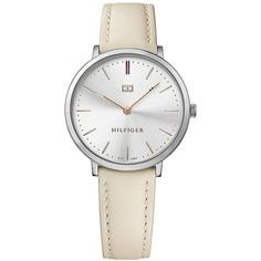 26cb89e831a1 Tommy Hilfiger Slim Silver Dress Watch ( 135) ❤ liked on Polyvore featuring  jewelry