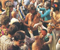 In 1967 I would be the blonde haired girl with the wreath of flowers in her hair dancing without a care