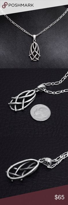 """Sterling Silver Pendant & Chain Chain Stamped """"925"""" Size 18 inches. Pendant stamped """"925 Mex"""".   This is not a stock photo. The image is of the actual article that is being sold  Sterling silver is an alloy of silver containing 92.5% by mass of silver and 7.5% by mass of other mThe sterling silver standard has a minimum millesimal fineness of 925.   All my jewelry is solid sterling silver. I do not plate.   Crafted in Taxco, Mexico  Will ship within 2 days of order. Jewelry Necklaces"""