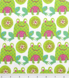 frog flannel Gotta get this for my baby