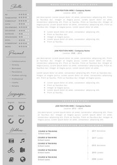 Professional Resume + Cover Letter Template Editable for MS Word - Curriculum Vitae - English CV with Fonts included - Resume Cover Letter Template, Cv Template, Letter Templates, Resume Templates, Notebook Doodles, How To Make Resume, Perfect Resume, Color Activities, Professional Resume
