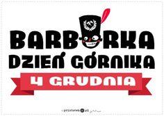 Barbórka - napis - Printoteka.pl Classroom, Education, Winter, Winter Time, Educational Illustrations, Learning, Winter Fashion, Studying