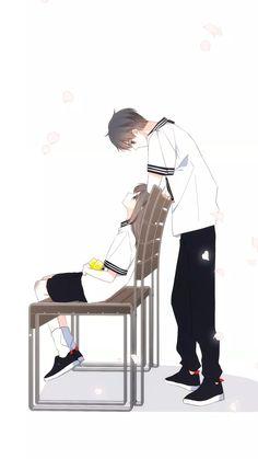 Cute Couple Art, Anime Love Couple, Anime Couples Drawings, Anime Couples Manga, Pretty Anime Girl, Cute Anime Guys, Anime Cupples, Anime Art, Anime Love Story