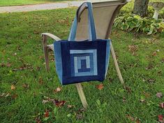 Iris Folded Upcycled Jean Tote