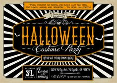 HALLOWEEN Invitation for Halloween Party by SweetScarletDesigns