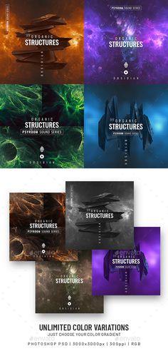 Progressive Sound Album Cover Templates PSD