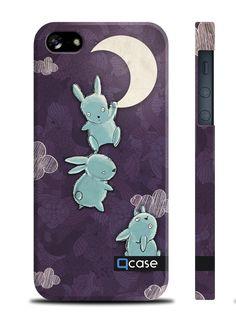 Чехол QCase для iPhone 5 | 5S E.Mamaeva (MOON) / Луна (пластиковый чехол, защитная пленка, заставка) купить в интернет-магазине BeautyApple.ru.